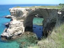 Natural arch a short walk from Torre dell'Orso