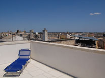 Top roof terrace overlooking Galatina
